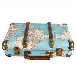 Βαλίτσα Αποθήκευσης Around The World Suitcase Map, Sass & Belle